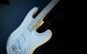 Wallpaper guitar, white, fender