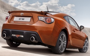 Picture the sky, clouds, coupe, spoiler, sports car, rear view, toyota, Toyota, gt 86, hachiroku, hachiroku, …