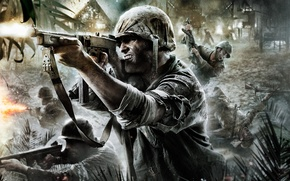 Wallpaper soldiers, war, Call of Duty