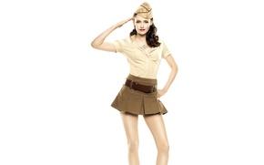 Wallpaper photoshoot, white background, makeup, uniform, actress, Vanity Fair, pose, model, pussy, skirt, brunette, hairstyle, Kristen ...