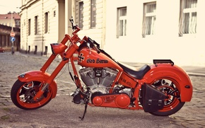Wallpaper red, motorcycle, red baron
