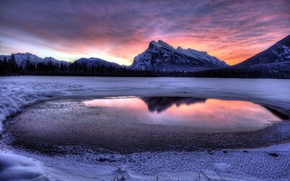 Picture The sky, Water, Mountains, Snow, Landscape, Cloud.