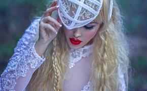 Picture girl, fantasy, art, Ryo, Red lips, Agnieszka Lorek