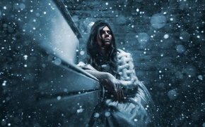 Picture cold, girl, snow, winter queen