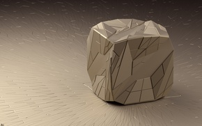 Wallpaper faces, figure, cube, art, triangles, render, line