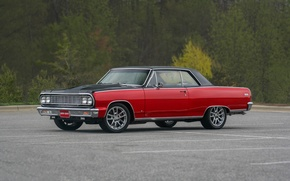 Picture Chevrolet, Red, 1964, Malibu