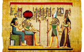 Picture Pharaoh, character, Egypt, papyrus