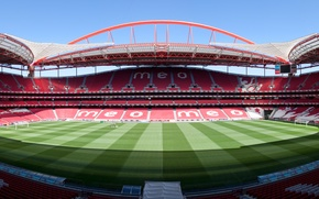 Picture Photo, Field, The city, Grass, Panorama, Portugal, Stadium, Stadium, Lawn, Estádio da Luz, The stadium …