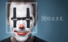 Wallpaper clown, House, Dr. house, Hugh Laurie