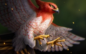 Picture Apple, iPhone, wallpaper, fire, flame, Android, nintendo, game, bird, anime, wings, feathers, asian, japanese, smartphone, …