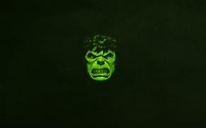 Picture face, green, minimalism, evil, Hulk, marvel, comic, hulk