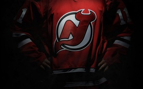 Picture Red, Logo, NHL, New Jersey, New Jersey, Devils, Devils, Hockey club, National Hockey League