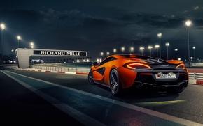 Picture McLaren, Orange, Race, Power, Supercar, Track, 570S