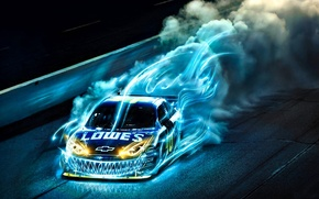 Picture blue, race, speed, monster