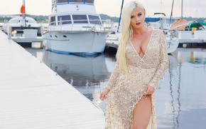 Picture summer, look, face, hair, dress, blonde, beauty, Aida Ridic