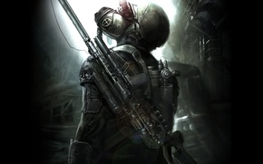 Picture weapons, The game, art, Metro 2033, Metro last light