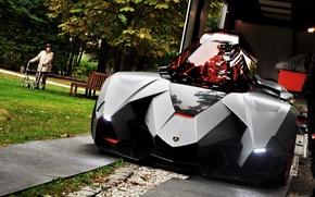 Picture Concept, black, Lamborghini, Egoista, 2013 Lamborghini Egoista Concept