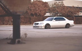 Picture white, tuning, lexus, white, Lexus, stance, ls400