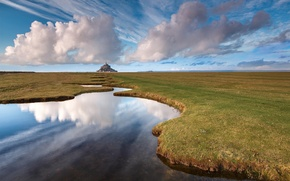 Wallpaper landscape, france, Mont Saint-Michel
