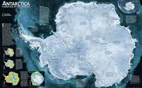 Wallpaper style, Antarctica, map, map of Antarctica, map