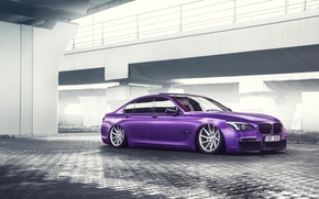 Picture Purple, Low, German, Color, Car, Vossen, 7 Series, Wheels, BMW
