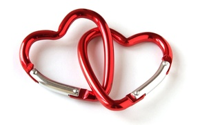 Picture heart, red, two, heart