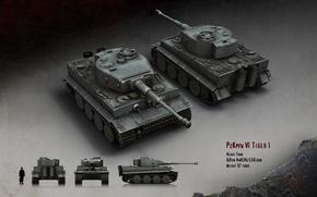 Wallpaper Tiger, tank, heavy