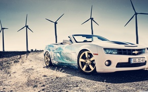 Picture Chevrolet, Cool, White, Supercar, Fast car