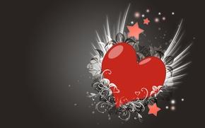 Picture love, pattern, heart, Grey
