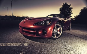 Picture asphalt, red, Dodge, red, Viper, Dodge, Viper, SRT10