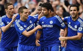 Picture Football, Fabregas, Club, Chelsea, Chelsea, Diego Costa, Matic, Mikel, Cesar Azpilicueta