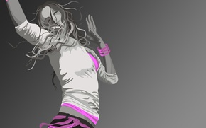 Picture girl, vector, Style