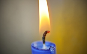 Picture Fire, Candle, Flame, Wick