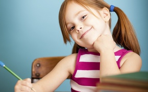 Picture look, pose, smile, child, mouth, nose, eyebrows, Parta, grin, child, tails, facial expressions, student, study, …