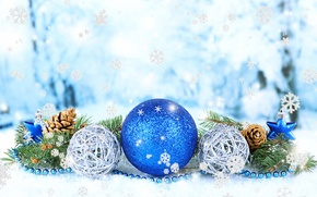 Picture balls, snowflakes, photo, Christmas, New year, bumps, holidays