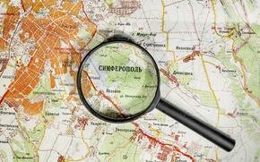 Picture Russia, Crimea, Simferopol, magnifier, map
