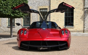 Picture red, supercar, red, Pagani, supercar, Pagani, wire, to huayr