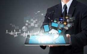 Picture pictures, scheme, male, laptop, tablet