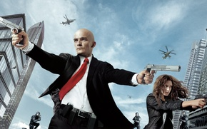 Picture girl, weapons, guns, home, helicopters, killer, killer, special forces, Hitman, Katia, Rupert Friend, Hitman: Agent …