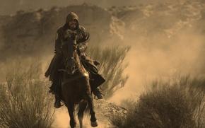 Wallpaper strong, rock, assassin, sand, wallpaper, 4k, vigilant, hood, man, Aguilar de Nerha, cinema, film, animal, ...