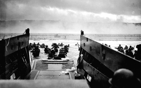 Picture photo, war, black and white, The second world, operation, Normandy