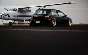 Picture black, tuning, volkswagen, black, Golf, golf, Volkswagen, MK4
