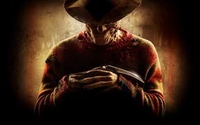 Picture strips, smile, knife, maniac, glove, killer, horror, sweater, a nightmare on elm street, Freddy Krueger