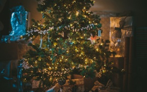 Picture holiday, toys, tree, gifts