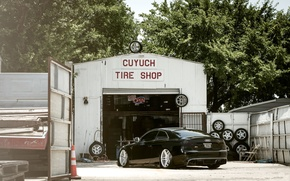 Picture Audi, Auto, The fence, Trees, Tuning, Machine, Landing, Service