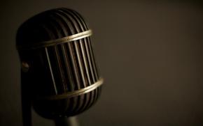 Wallpaper macro, style, retro, music, sound, microphones, sound