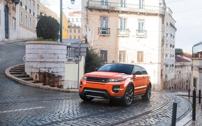 Picture Orange, Orange, SUV, Evoque, Rover, Range
