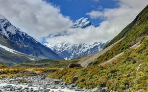 Picture river, photo, New Zealand, New Zealand, Mount Cook National Park, mount cook, National Park mount …