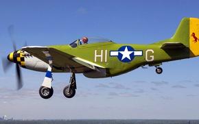 Picture flight, retro, the plane, pilot, landing