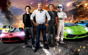Picture Jeremy Clarkson, Top Gear, Stig, Supercars, Richard Hammond, James May, Ferrari LaFerrari, BMW i8, Lamborghini …